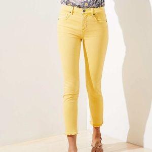 Loft Mustard Yellow Skinny crop pants SZ 26